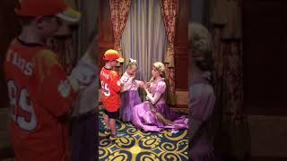 Bear Meets Rapunzel at Disney World