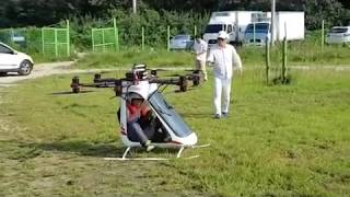 Another passenger flying drone built by Korean manned homemade