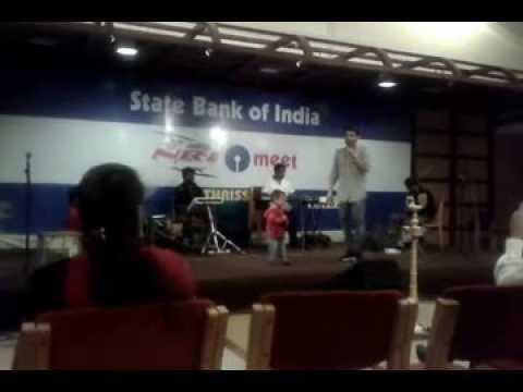 SBI NRI Meet  Thrissur  Play Back Singer Anup Sankar & his son...