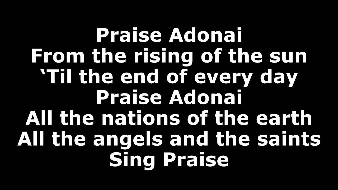 Praise Adonai - Paul Baloche (with Lyrics) - YouTube