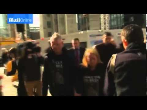 Lee Rigby's family arrive at Old Bailey for sentencing