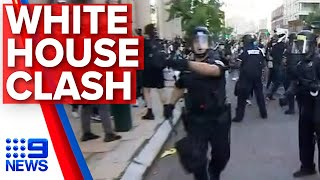 Washington protests: Demonstrations escalate on Trump's doorstep | Nine News Australia