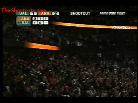 Chris Kunitz (ANA) vs. Marty Turco (DAL) Shootout March 30, 2008 Video