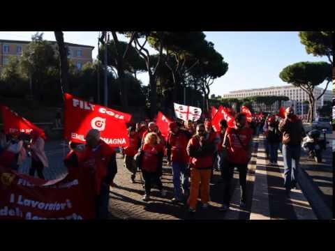 FILT CGIL sciopero generale Roma 25 ottobre 2014