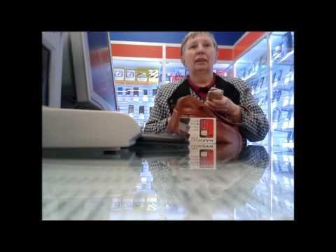 Бабка в салоне сотовой связи