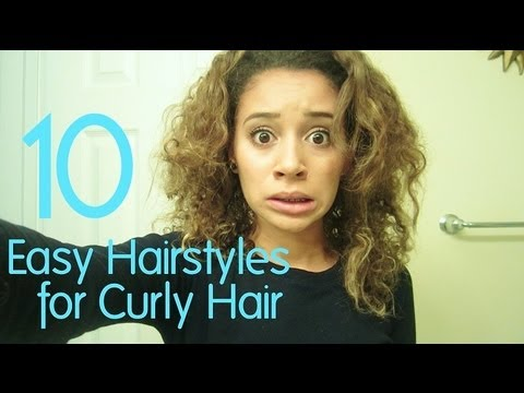 10 Easy Hairstyles for Curly Hair  YouTube