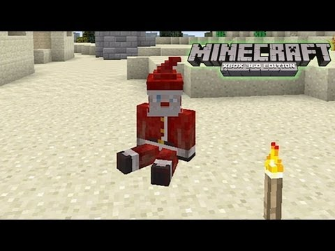 How to make bad santa sit down on minecraft xbox 360 edition   HD