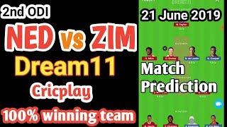 Zim vs ned 2nd odi dream11 team playing11 news squad 21 june prediction ned vs zim dream11 team