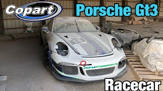 Crazy Supercar Find Wrecked 2014 Porsche GT3 Race Car At Copart Salvage Auction