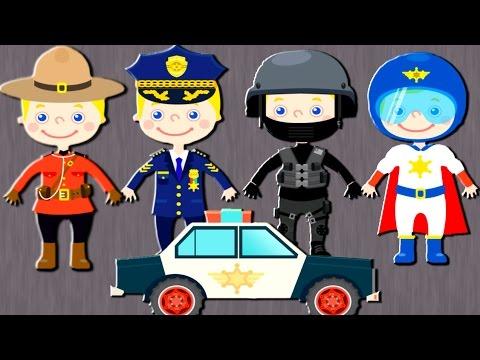 ВИДЫ ПОЛИЦЕЙСКИХ ФОРМ ДЛЯ ДЕТЕЙ. Машина с мигалкой. Машины детские полиции. Полиция мультфильм