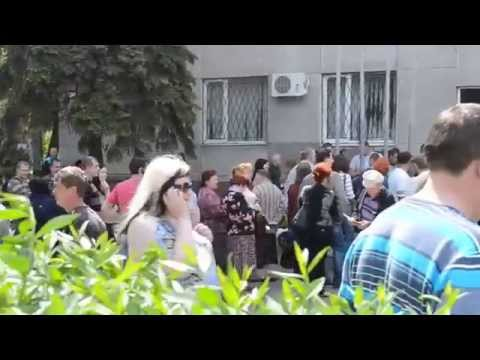 Krasnoarmeysk. Referendum at Mid-day. 11.05.2014 (Donetsk oblast)