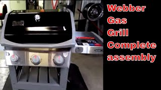 Weber Gas Grill,  From the Box To The Burgers