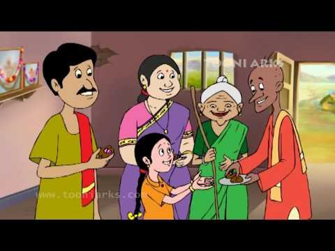 Chinnari Chitti Geetalu - Mama Mama Mamidipandu - Telugu Rhymes video