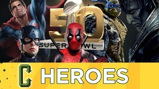 Collider Heroes - The Best Comic Book Movie Trailers From The Superbowl