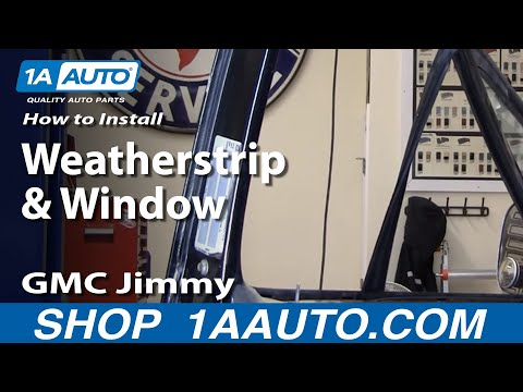 How to Install Replace Weatherstrip & Window 73-87 Chevy GMC Pickup Truck & SUV part 2 1AAuto.com