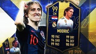 TOTY MODRIC 99! THE COMPLETE MIDFIELDER! FIFA 19 ULTIMATE TEAM