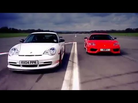 BBC: Porsche GT3 v Ferrari Car Review- Top Gear Video