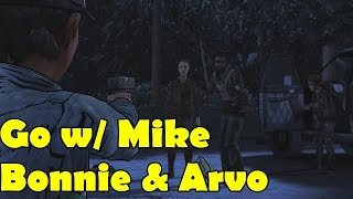 Go with Mike Bonnie and Arvo Leave The Walking Dead Season 2 Episode 5 No Going Back