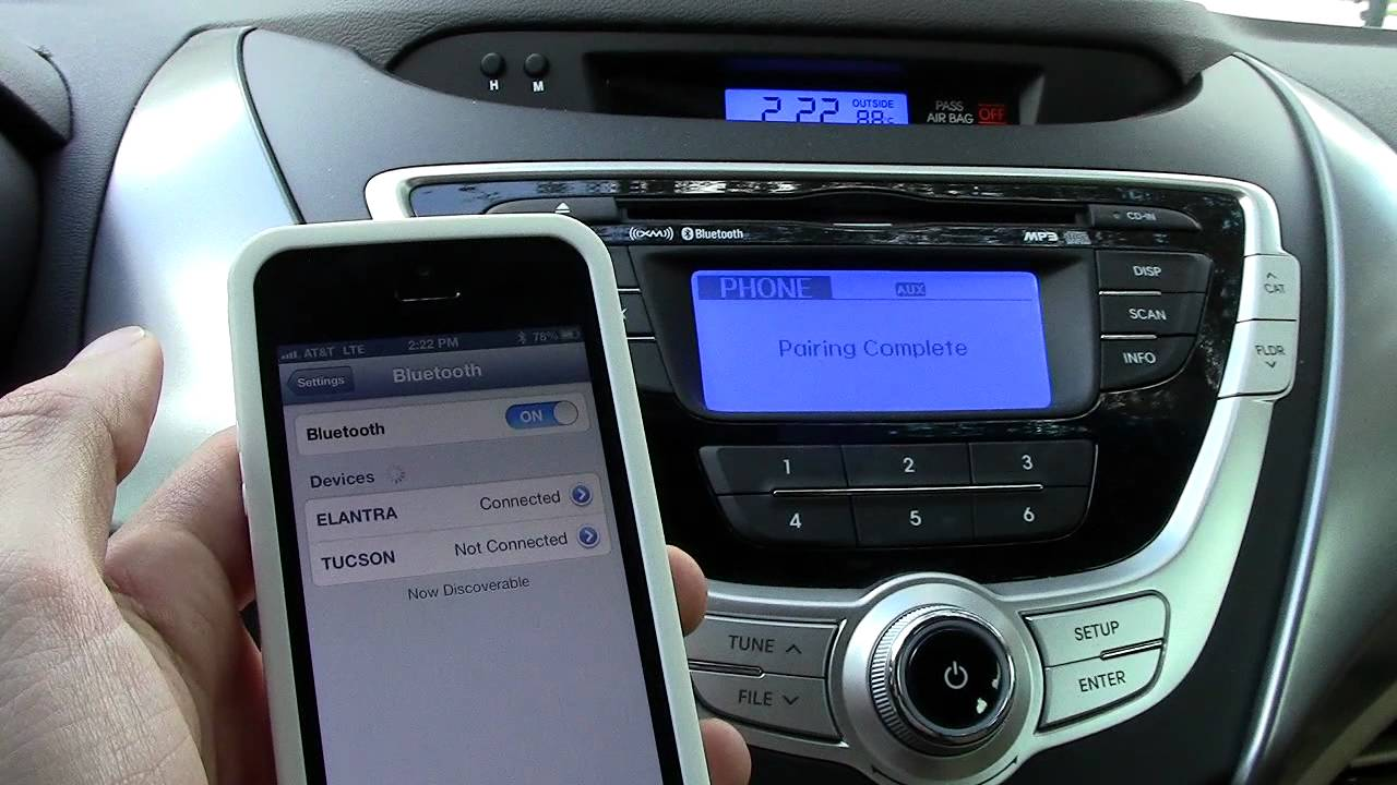 iphone 5 bluetooth pairing to your car youtube. Black Bedroom Furniture Sets. Home Design Ideas