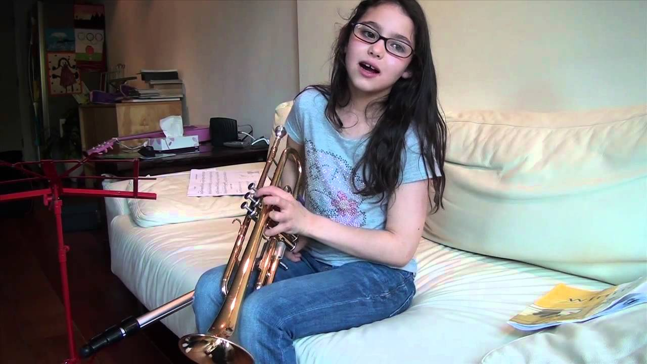 Little Girls Dream Of Playing The Trumpet Comes True