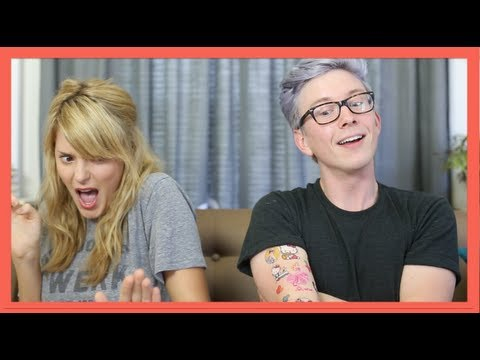 2girls1cup Reaction (ft. Dailygrace) | Tyler Oakley video