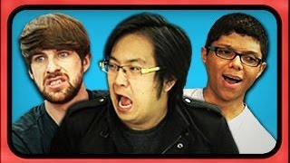 YouTubers React to Viral Videos (Chocolate Rain, Justin Bieber, Magibon)