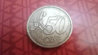 50 Euro Cent 2002 Portugal    tres rare qui valait un fortune