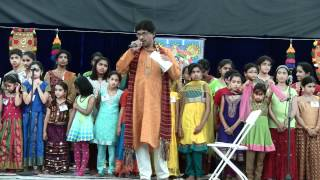 Bhavamu lona Bhagyamu nandunu-Ramachary with LMA NJ 2012 Kids at Guruvayurappan Temple