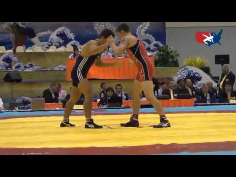 2012 Junior Worlds - GR 60kg - Jesse Thielke (USA) vs. Maxim Mamulat (MDA)