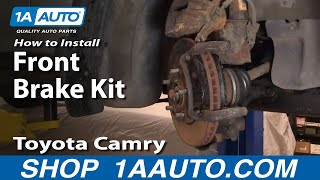 How to Install Replace Front Disc Brake Pads Rotors Toyota Camry 92-96 1AAuto.com