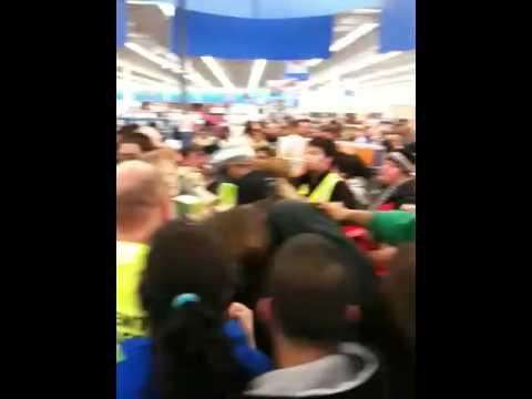 Black friday midnight madness at Walmart