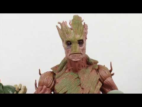 Guardians Of The Galaxy Marvel Legends Groot Build-A-Figure Movie Toy Review