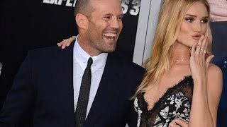 The Expendables 3 premiere in Los Angeles:Rosie Huntington-Whiteley stuns alongside Jason Statham