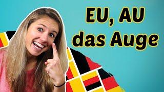 GERMAN PRONUNCIATION 7: How to pronounce EI, IE, AU, EU (Diphthongs)