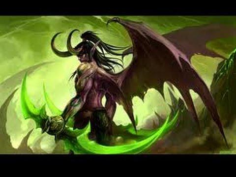 Иллидан в Осквернённом Лесу - World of Warcraft