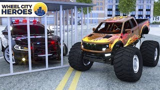 Join Monster Truck in cage by Sergeant Lucas The Police Car | Wheel City Heroes (WCH) | New Cartoon