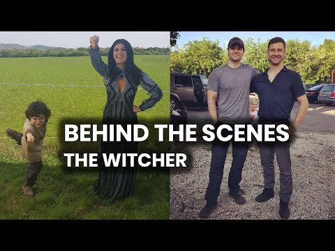 The Witcher Netflix Behind The Scenes Shots Collage