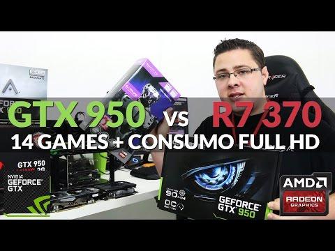 Review - GTX 950 vs R7 370 em 14 GAMES Full HD + testes de consumo