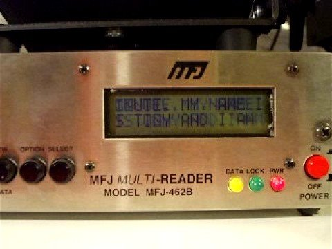 Demonstration of an Automatic Morse Code Reader.