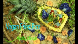 Vegan Fried Rice Recipe In Pineapple - Vegan Easy Recipe - Healthy Life