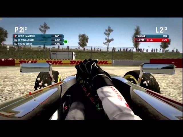 Piloti F1 závodí ve hře (české titulky)