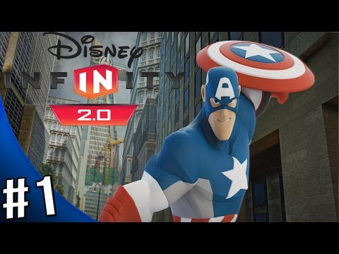 Disney Infinity 2.0 Marvel Super Heroes - The Avengers Playset - Walkthrough Part 1 - IRON MAN!