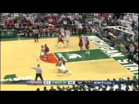 HD MSU vs Indiana 2008 Basketball : Michigan State Spartans Video