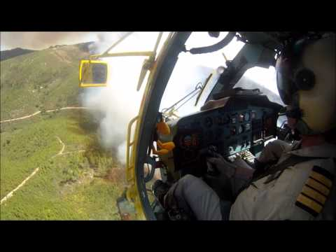 KAMOV KA-32 fire fighting operation in Pra�ais, Pampilhosa da Serra, Portugal
