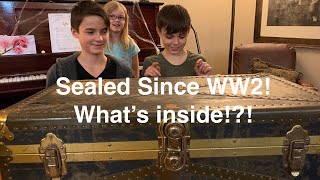 Sealed Since WW2! time capsule mystery trunk! what's inside!?!