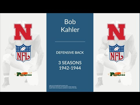 Bob Kahler was a professional football defensive back and halfback who played for 3 seasons from 1942 to 1944. In college, Kahler played for the Nebraska. Professionally, Kahler played for...