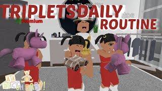 Roblox Bloxburg| Triplets Daily Routine