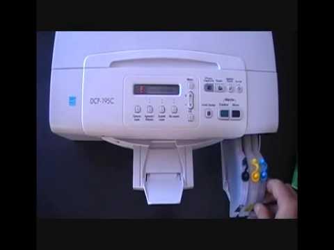 Vidéo montage cartouches Grandes capacités 1100 INKSTOCK sur imprimante BROTHE