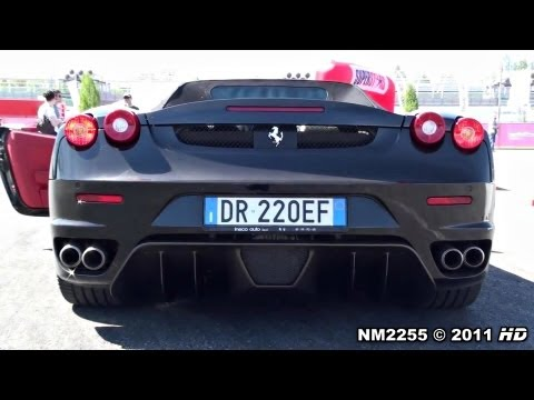 Decatted Ferrari F430 Spyder INSANE SOUND!!