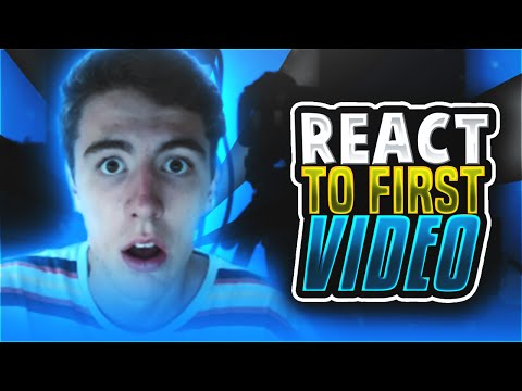 I REACT TO MY FIRST MINECRAFT VIDEO!! ( Minecraft Funny Videos w/ TheCampingRusher )